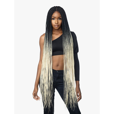 "Sensationnel Cloud 9 4"" X 4"" Hand Braided Swiss Synthetic Lace Front Wig - Box Braid 50"""