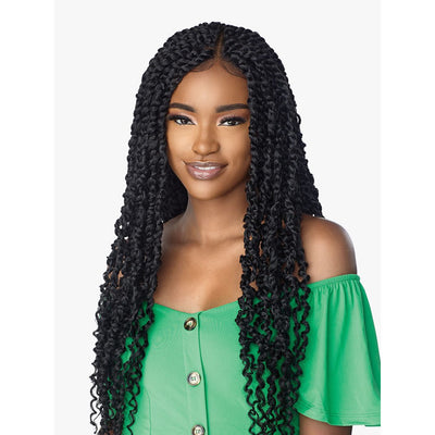 "Sensationnel Cloud 9 4"" X 4"" Hand Braided Swiss Synthetic Lace Front Wig - Passion Twist 28"""