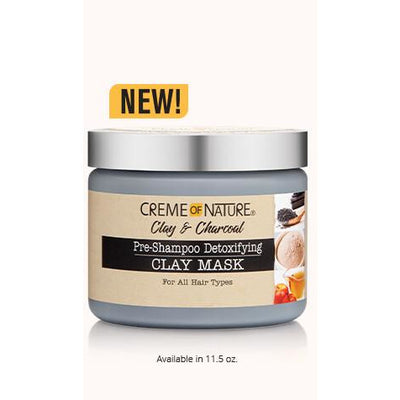 Creme of Nature Clay & Charcoal Pre-Shampoo Detoxifying Clay Mask 11.5 OZ