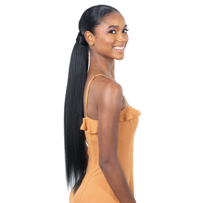Shake-N-Go Organique MasterMix Pony Pro Wrap-Around Synthetic Ponytail – Yaky Straight 24""