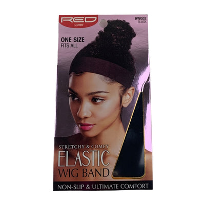 Red by Kiss Stretchy & Comfy Elastic Wig Band - HWG02 Black
