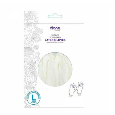 Diane 10 Pack Powered Latex Gloves