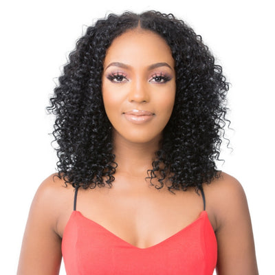 Its A Wig 100% Natural Human Hair Lace Front Wig - HH U Part Deep Wave