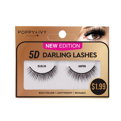 Poppy and Ivy Beauty 5D Darling Lashes - Aspen #ELDL33