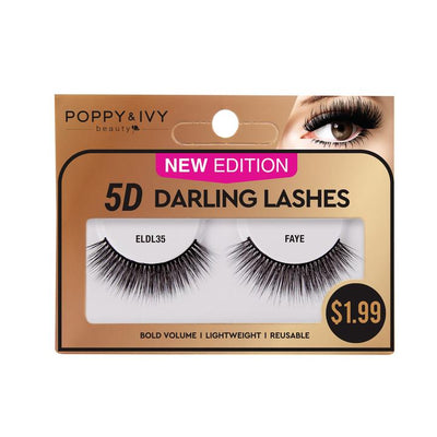 Poppy and Ivy Beauty 5D Darling Lashes - Faye #ELDL35
