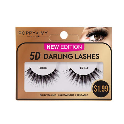 Poppy and Ivy Beauty 5D Darling Lashes - Emilia #ELDL36
