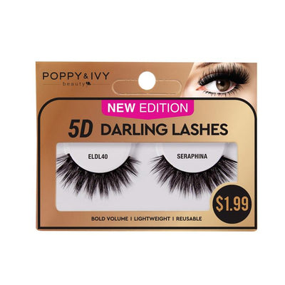 Poppy and Ivy Beauty 5D Darling Lashes - Seraphina #ELDL40