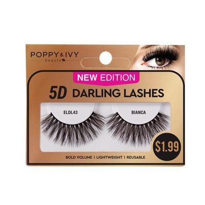Poppy and Ivy Beauty 5D Darling Lashes - Bianca #ELDL43
