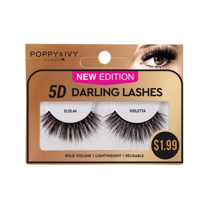 Poppy and Ivy Beauty 5D Darling Lashes - Violetta #ELDL44