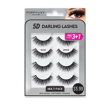 Poppy and Ivy Beauty 5D Darling Lashes MultiPack - Marlee #ELDL62