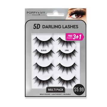 Poppy and Ivy Beauty 5D Darling Lashes MultiPack - Luna #ELDL63