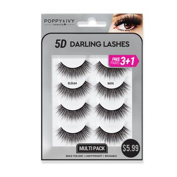Poppy and Ivy Beauty 5D Darling Lashes MultiPack - Naya #ELDL64