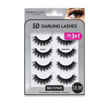 Poppy and Ivy Beauty 5D Darling Lashes MultiPack - Seraphina #ELDL65