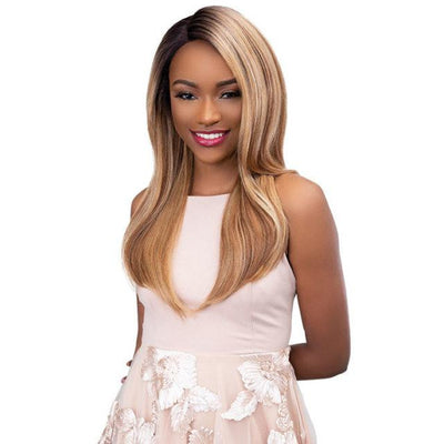 Janet Collection Synthetic Extended Part Lace Front Wig - Mermaid