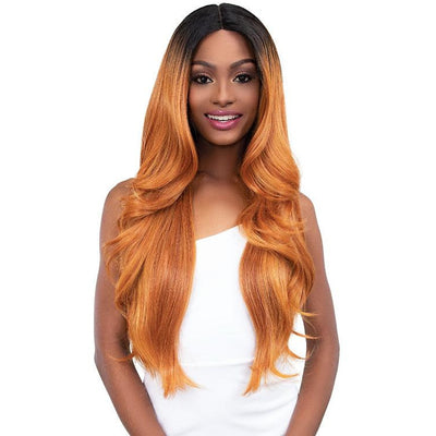 Janet Collection Synthetic Extended Deep Part Lace Front Wig - Junny