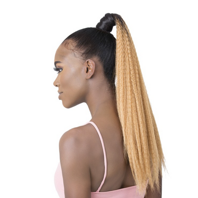 Golden Tree By It's A Wig! Synthetic DIY Pony Wrap Ponytail - Crimped Curl 22""
