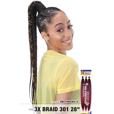 FreeTress Equal Pre-Stretched Synthetic Braids - 3X Braid 301 28""
