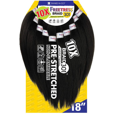 FreeTress Equal Pre-Stretched Synthetic Braids - 10X Braid 301 18""