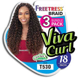 FreeTress Synthetic Crochet Braids - 3X Viva Curl 18""