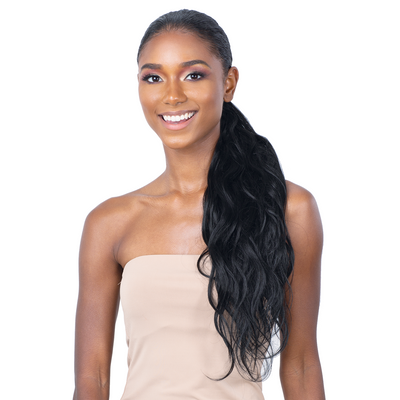 Shake-N-Go Organique MasterMix Pony Pro Wrap-Around Synthetic Ponytail - Body Wave 24""
