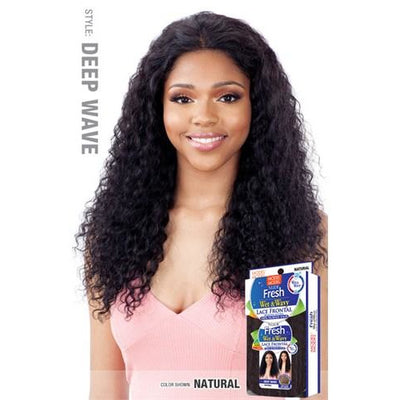 Model Model Nude Fresh Wet & Wavy Lace Frontal Wig - Deep Wave