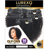 Zury Lurex 100% Remy Hair Clip-On 9 PCS - 4A Coily