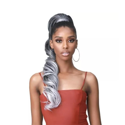 Bobbi Boss Miss Origin Tress Up Human Hair Blend Drawstring Ponytail - Loose Curl 28""
