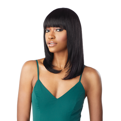 Sensationnel 100% Human Hair 10A Unprocessed Full Wig - Straight 18""