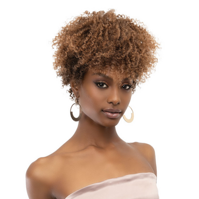 Janet Collection Natural Curly Premium Synthetic Wig - Natural Afro Mica