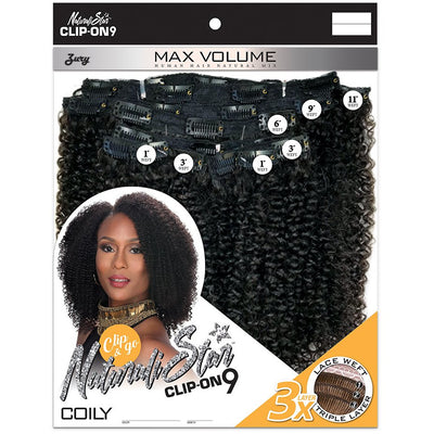 Zury Sis Naturali Star Human Hair Mix Clip-On 9 Weave – Coily