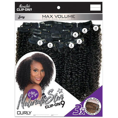 Zury Sis Naturali Star Human Hair Mix Clip-On 9 Weave – Curly