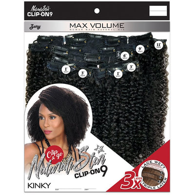 Zury Sis Naturali Star Human Hair Mix Clip-On 9 Weave – Kinky