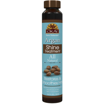 Okay Pure Naturals Argan Shine Treatment Restores & Smoothes Hair 0.6 OZ
