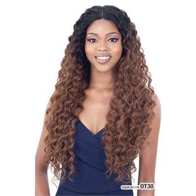 "Model Model Gardenia Mastermix One Pack Weave - Loose Deep 4 PCS (24""/26""/28"") + 4""x 4"" Full Lace Closure"
