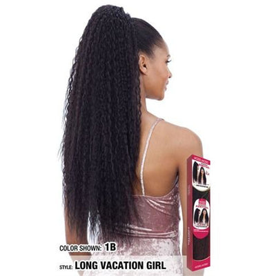 Model Model Synthetic Drawstring Ponytail - Long Vacation Girl