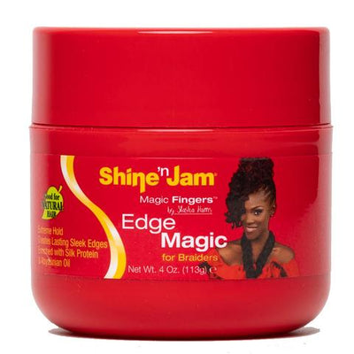Ampro Shine n' Jam Magic Fingers Edge Magic For Braiders 4 OZ