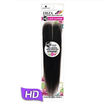 "Shake-N-Go Ibiza 100% Virgin Human Hair 2.25"" x 4.5"" HD Lace Part Closure - Straight 12"""