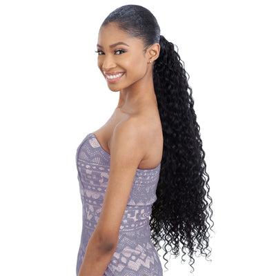 Shake-N-Go Organique MasterMix Wrap-Around Synthetic Ponytail - Super Curl 32""