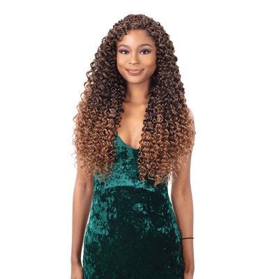 FreeTress Synthetic Crochet Braids - 3X Mazo Curl 18""