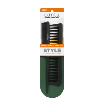 Cantu Heat & Chemical Resistant Style Carbon Fiber Comb Pack