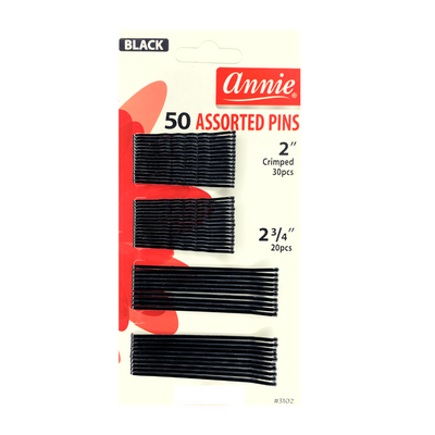 Annie 50 Assorted Pins - Black #3102