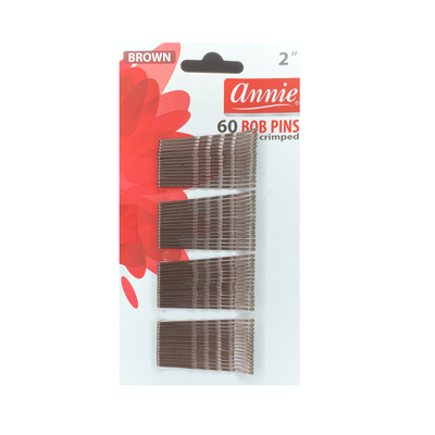 "Annie 2"" Crimped Bob Pins - Brown #3304"