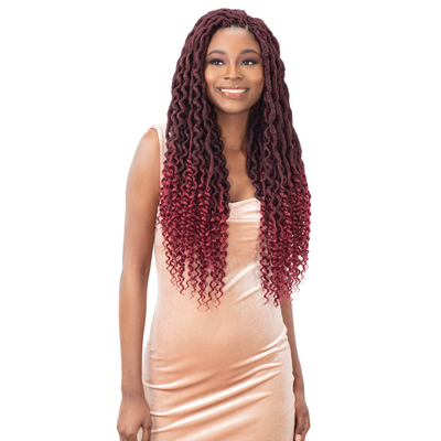 FreeTress Synthetic Crochet Braids - Royal Gorgeous Loc 22""
