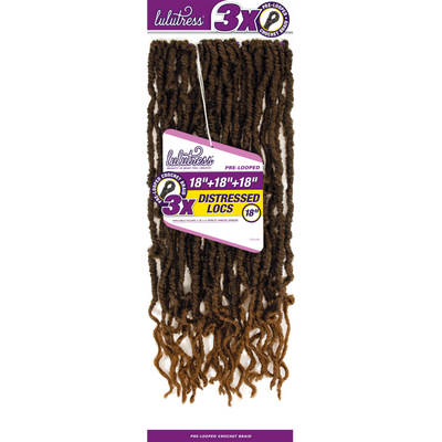 Sensationnel Lulutress Synthetic Pre-Looped Crochet Braids - 3X Distressed Locs 18""