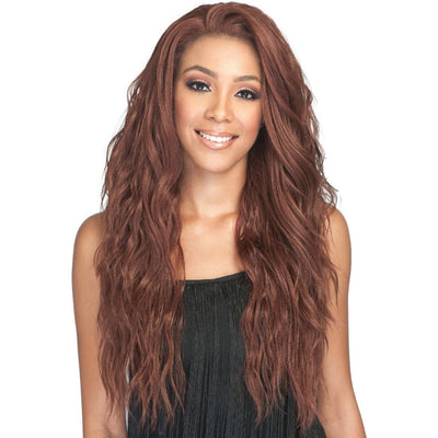 Bobbi Boss Human Hair Blend 360° Swiss Lace Front Wig – MBLF-270 Ambra
