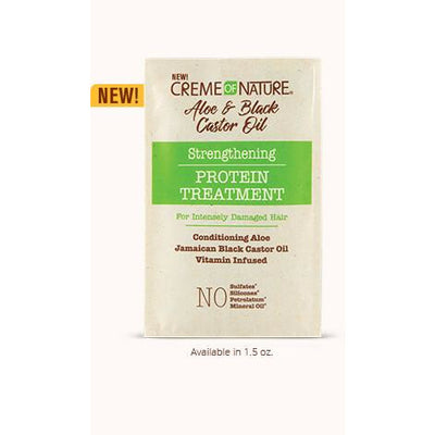 Creme Of Nature Aloe & Black Castor Oil Strengthening Protein Treatment 1.5 OZ