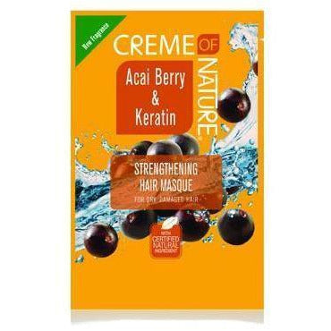 Creme Of Nature Acai Berry & Keratin Strengthening Hair Mask 1.75 oz