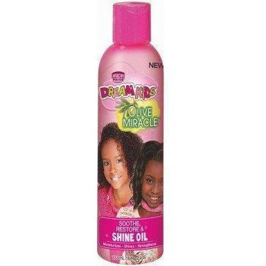African Pride Dream Kids Olive Miracle Shine Oil 6 OZ