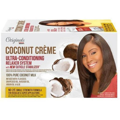 Africa's Best Originals Coconut Creme Ultra-Conditioning Relaxer System With New Cuticle Stabilizer