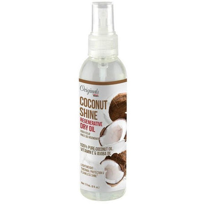 Africa's Best Originals Coconut Shine Regenerative Dry Oil 6 OZ